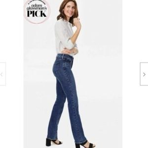 NYDJ Jeans Marilyn Straight Leg Denslowe Dark Wash
